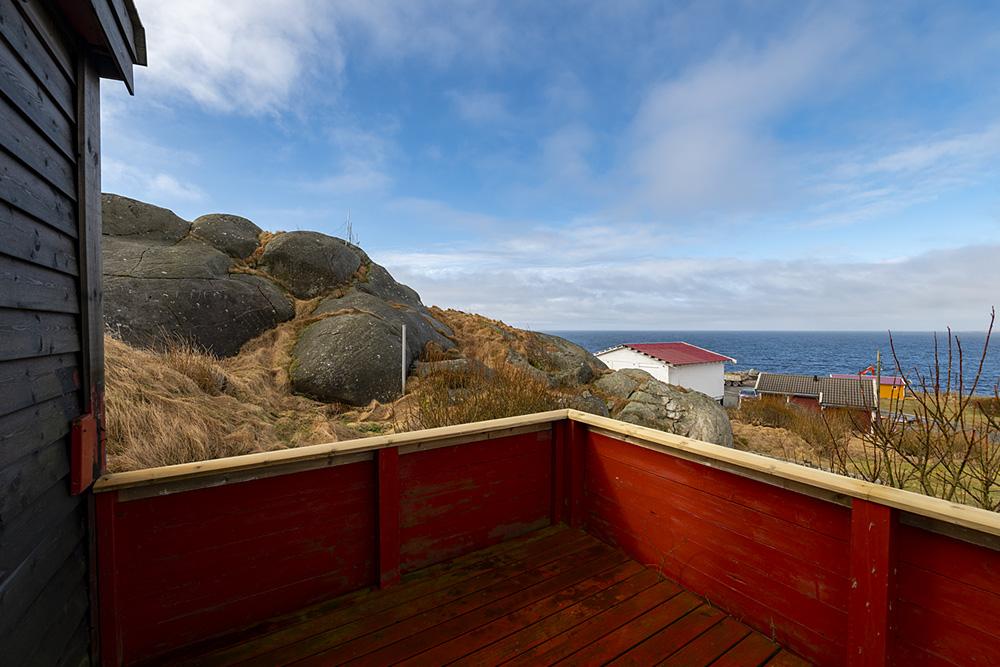 Utsikt fra hytte nr 1 Sandhåland camping