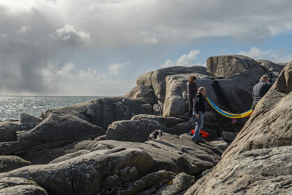 Hengekøye overnatting Sandhåland camping